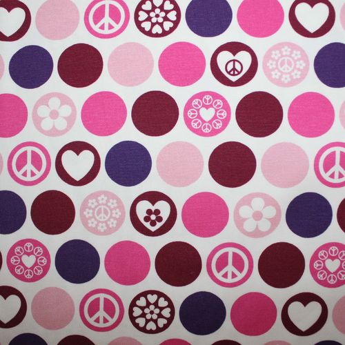 Dots of Hope pink Baumwoll-Jersey v. Hilco