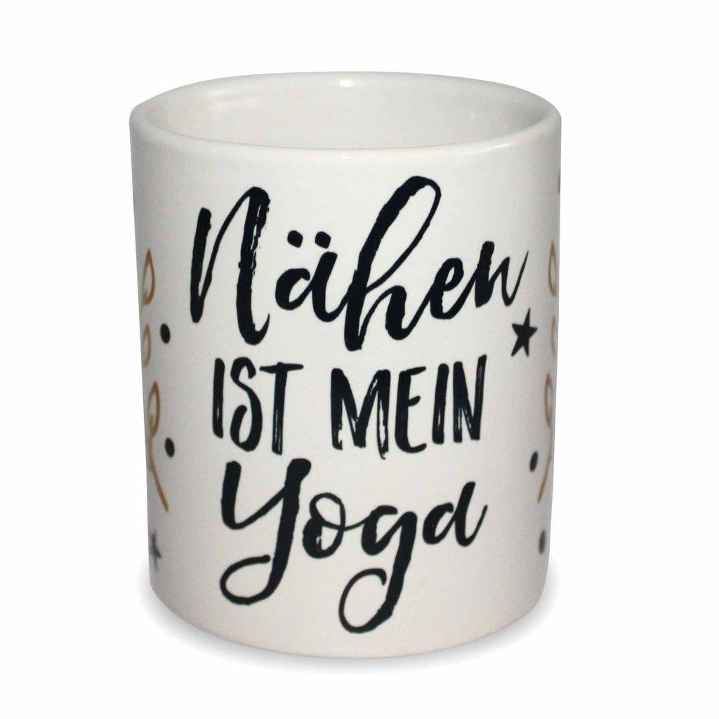 """Tasse """"Nähen ist mein Yoga"""" - Exklusivdesign - online"""
