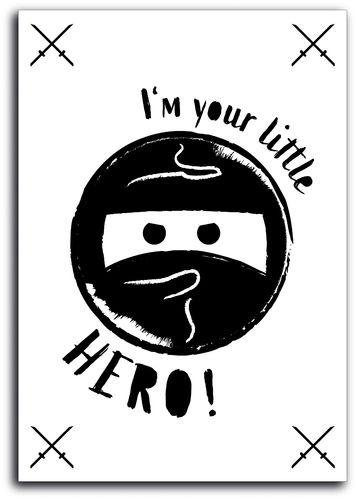 "Poster ""I'm your little hero"""