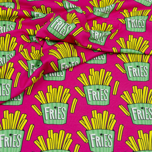 "Hamburger Liebe ""OMG Fries"", Sommersweat pink"