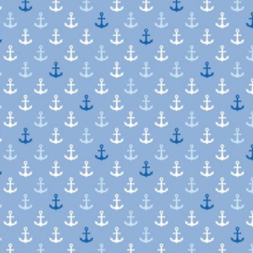 Sea Breeze - Anchors blue - Hilco, 100% Viskose