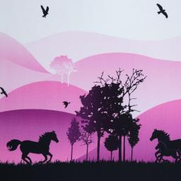 Wild Shadows by lycklig design, Sweat unangeraut, Bordüre, beere