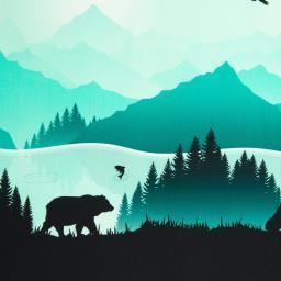 Wild Shadows by lycklig design, Sweat unangeraut, Bordüre, smaragd