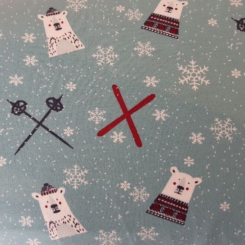 Eisbären, hellpetrol, French Terry