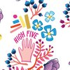 Hamburger Liebe, High Five High Five, Canvas Druck, weiß