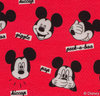 Mickey Mouse, Jersey, Lizenzstoff, Mini Mickey, rot, Swafing