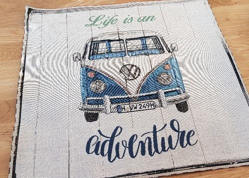 VW Bulli, Canvas Panel, ca. 47cm