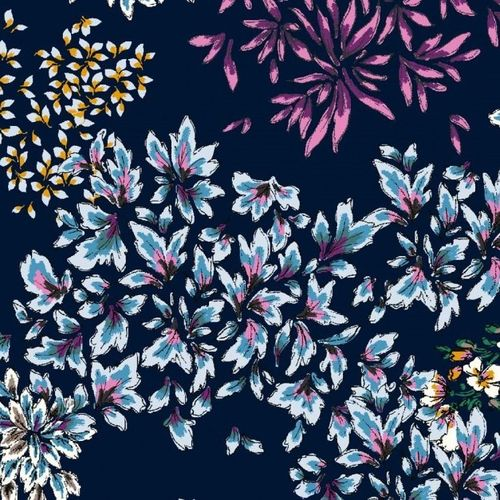 FlowerDreams blau, 100% Viskose