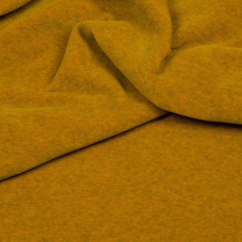 Fleece meliert, Hilco, senf