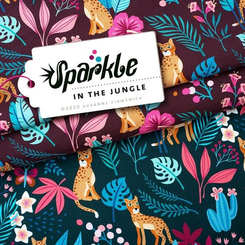 Sparkle - In the Jungle weinrot, Hamburger Liebe, Albstoffe
