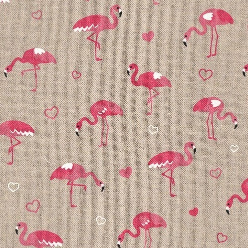 Flamingo Hearts, Canvas in Leinenoptik, Swafing
