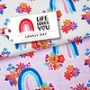 Life Loves You - Lovely Day rosa melierter Bio-Jersey, Hamburger Liebe, Albstoffe