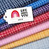 Life Loves You - Grid dunkelblau, Bio-Jacquard, Hamburger Liebe, Albstoffe