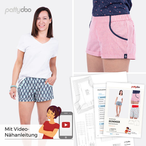 Schnittmuster Summer Shorts - pattydoo