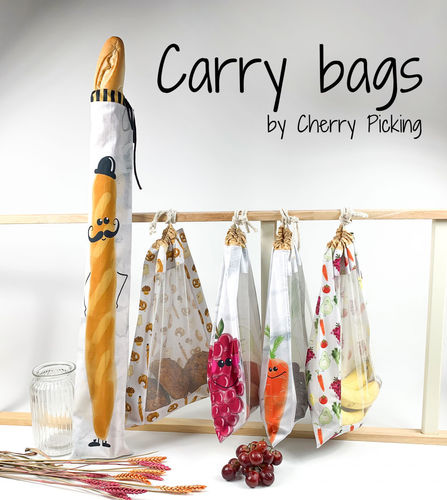 Carry Bags by Cherry Picking, Baumwolle Webware, Swafing
