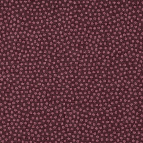Dotty, Baumwoll-Webware, 2mm Punkte, bordeaux