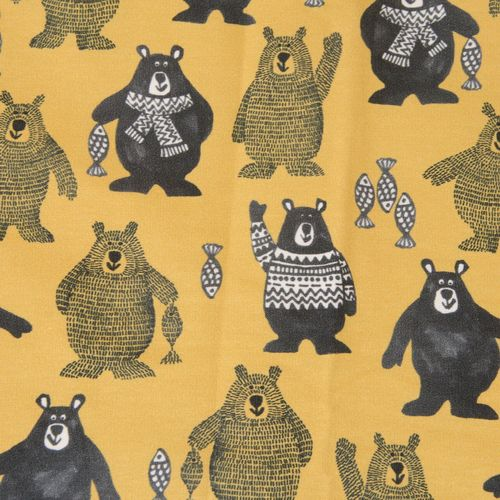 Folk Bear Sweat, senf, Sommersweat, Hilco