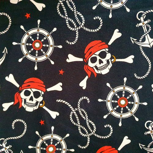 Piratenskulls, angerauter French Terry, Fräulein von Julie