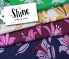 SHINE - Like a Lily mit Soft-Touch-Lurex, navy blue - Bio-Jacquard, Hamburger Liebe, Albstoffe