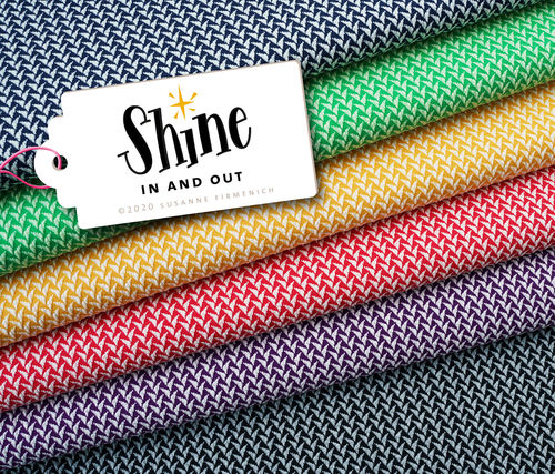 SHINE - In and Out, 3D - Knit, navy blue - Bio-Jacquard, Hamburger Liebe, Albstoffe